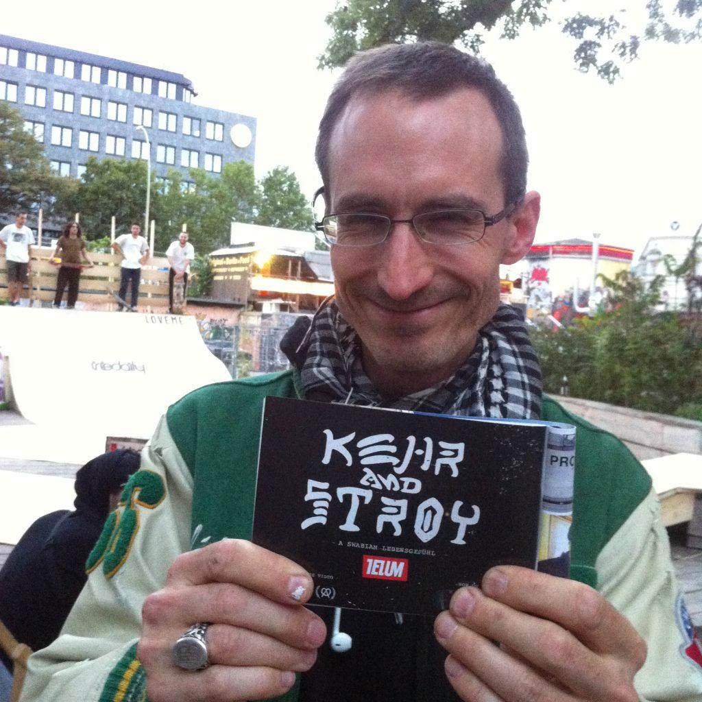 Jürgen Blümlein und eine seine Lieblingsbrands: TELUM skateboards