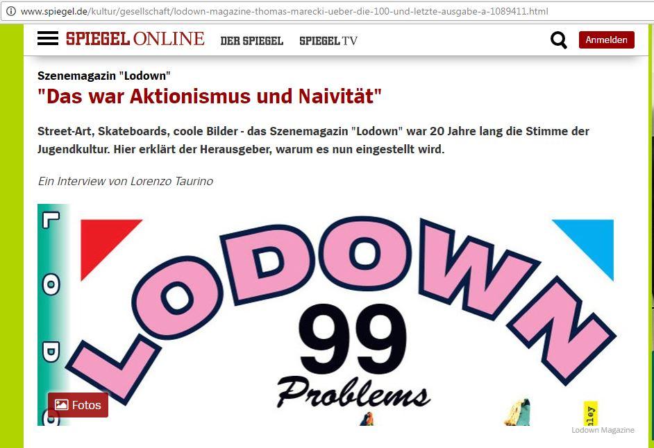 Thomas Marecki vom Lodown Magazine im Interview mit Lorenzo Taurino vom Gude Zeit Magazin für Spiegel Online