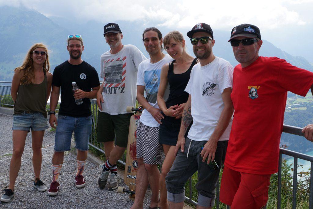 Gruppenfoto olé! Fangen wir einfach mal bei Rot an: Bolle, Daniel, Nina, Lorenzo, Bernt, Alex, Hannah