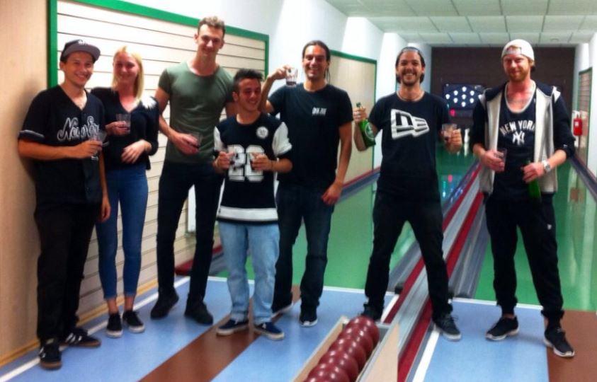 Meet the ballers: Alex, Michelle, Mario, Kalle, Lorenzo, Merlin und Sascha. Foto: Sara Lavric @ KTC Loski Potok, Slovenia