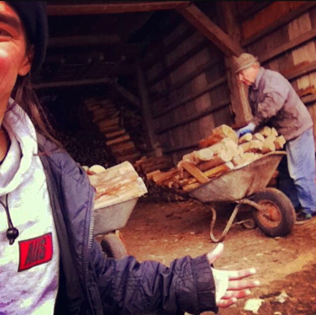 Onkel Alois und der Taurino an der frischen slowenischen Bergluft