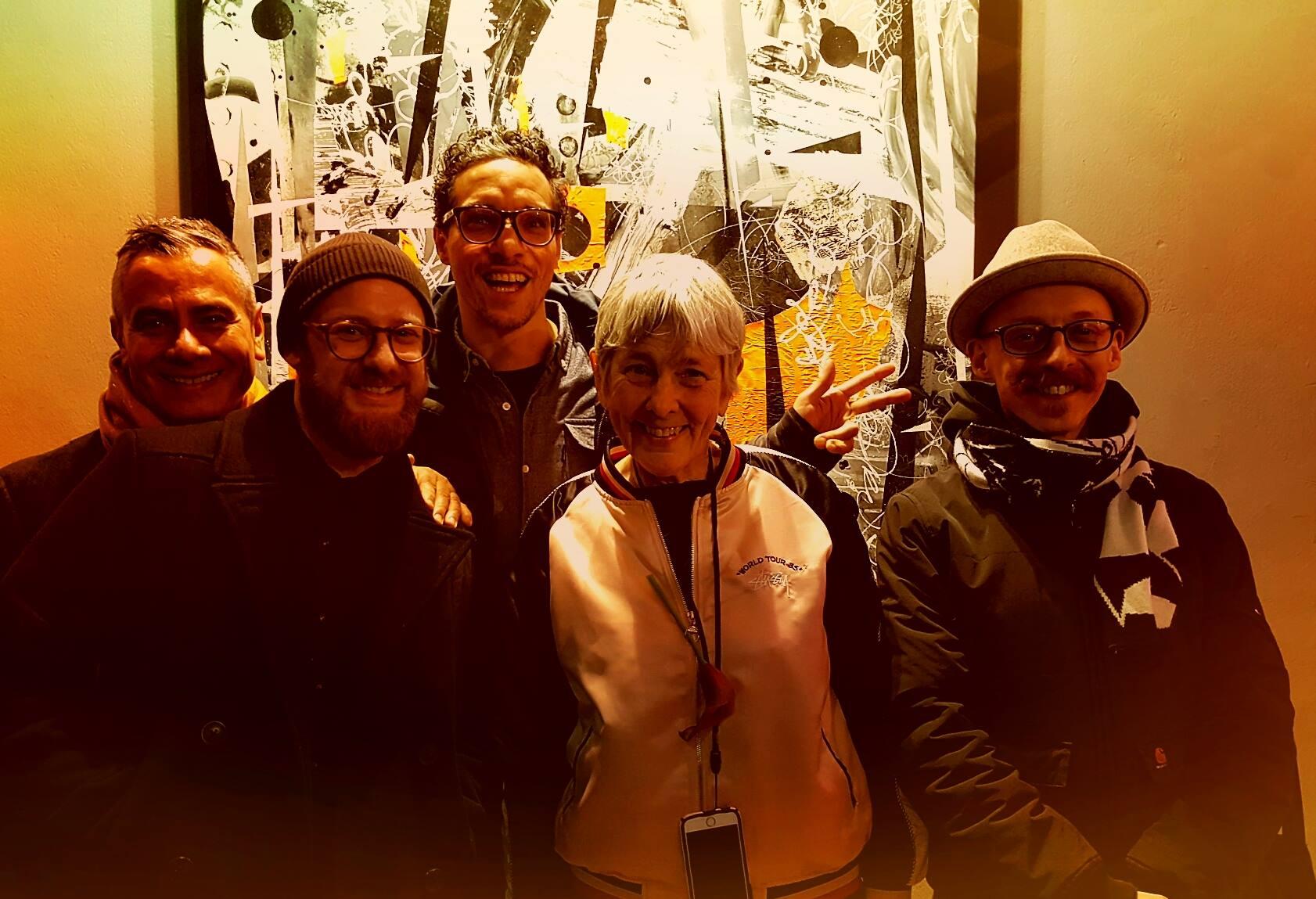 Full flush: Jamie Rojo from Brookly Street Art, Patrick Hartl, C100, Martha Cooper and Dave the Chimp