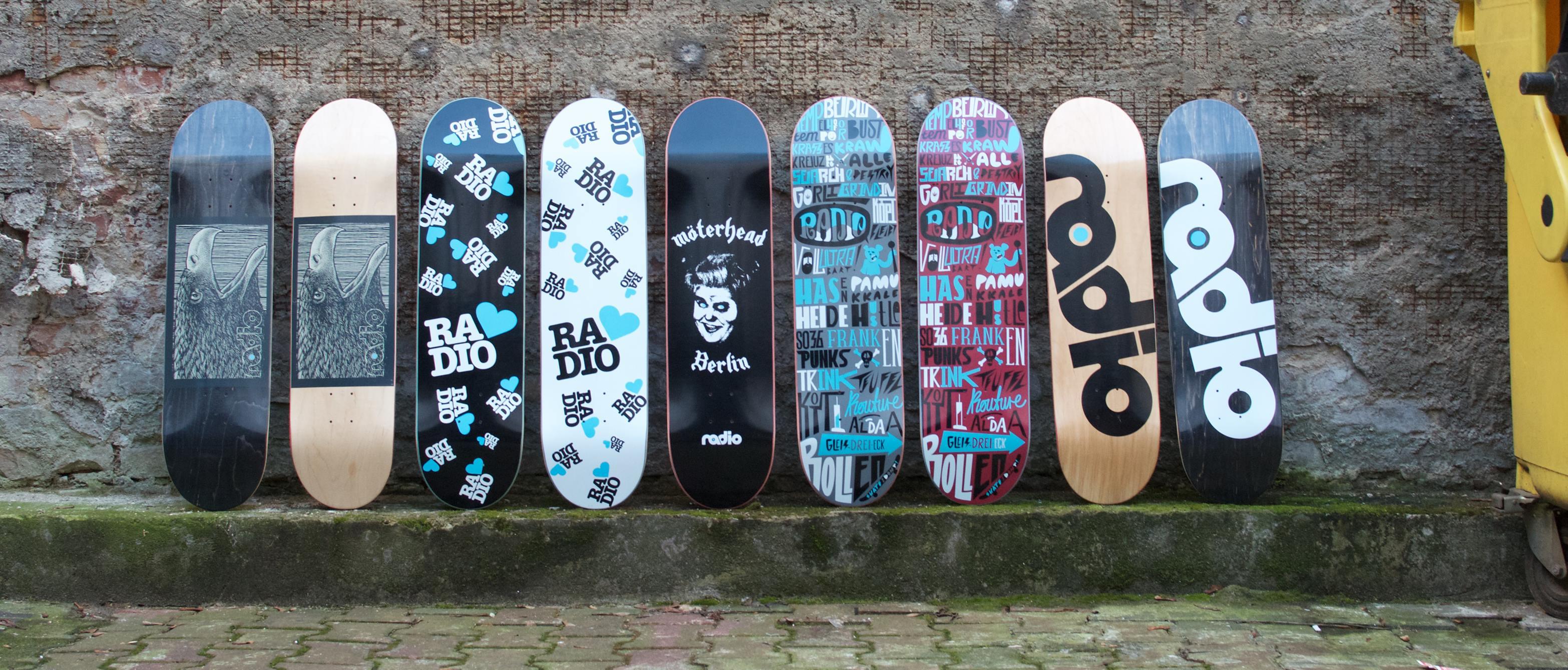 United Decks of Radio Skateboards
