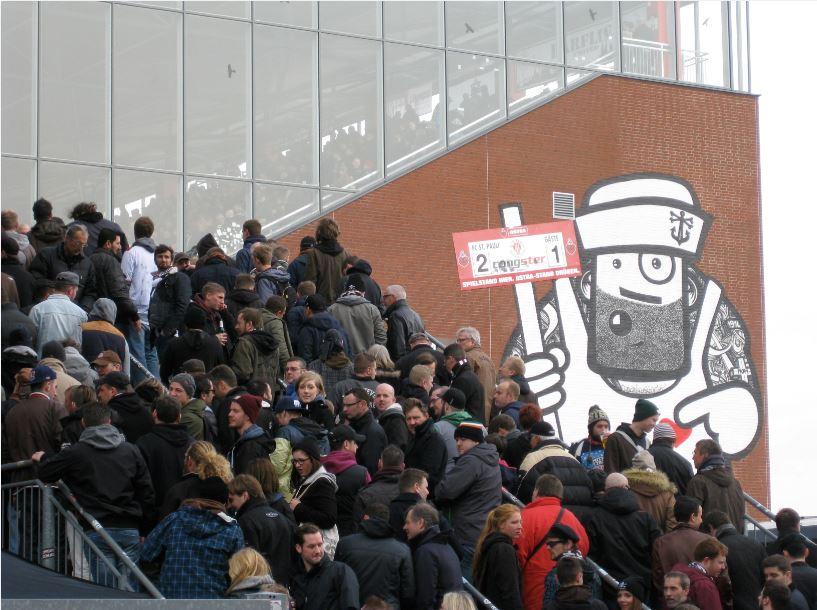 Sankt Pauli Fans am Millerntor