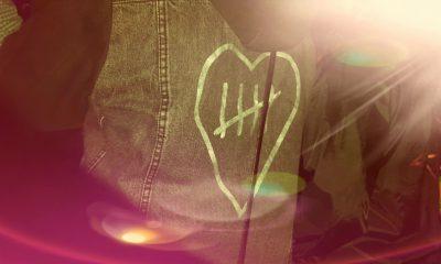 Ein Herz mit Makel und Markierungen