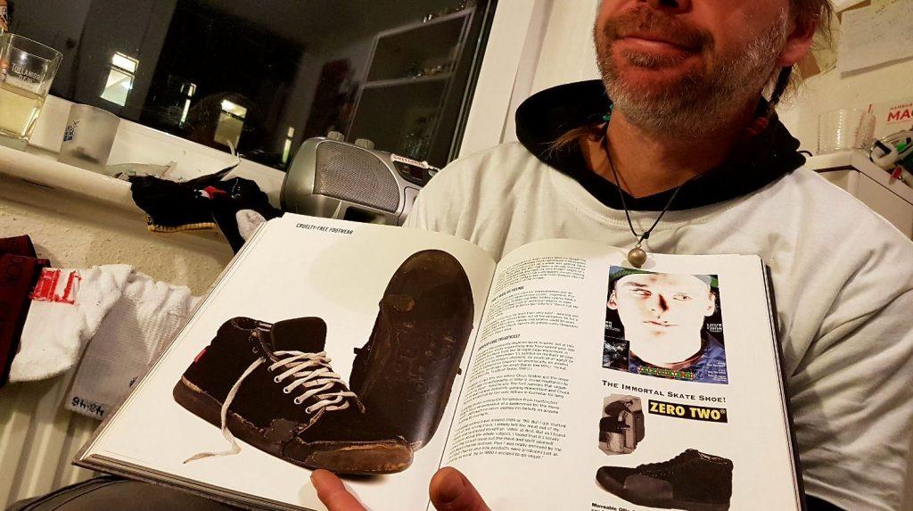 Arne und sein Zero Two Schuh im Made For Skate Buch